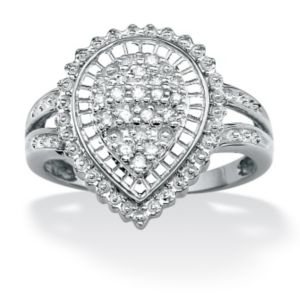 Diamond Pear-Shaped Ballerina Ring