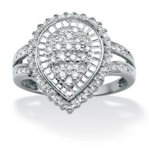 Diamond Pear-Shaped Ballerina Ring