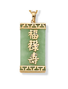 Green Jade Pendant by PalmBeach Jewelry
