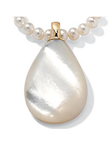 Mother-of-Pearl Pendant/Enhancer by PalmBeach Jewelry