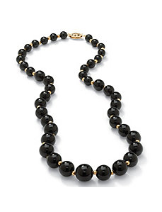 Onyx Beaded Necklace by PalmBeach Jewelry
