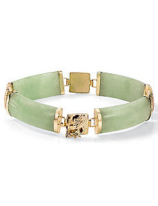 Green Jade Link Bracelet by PalmBeach Jewelry