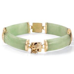 Green Jade Link Bracelet