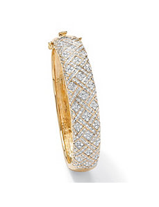 Crystal Lattice Bangle Bracelet by PalmBeach Jewelry