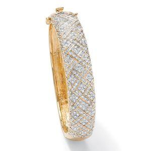 Crystal Lattice Bangle Bracelet