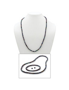 Grey Cultured Freshwater Pearl Set by PalmBeach Jewelry