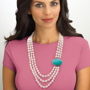Freshwater Pearl/Turquoise Necklace