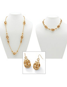 Multi-Ringlet Circle Jewelry Set by PalmBeach Jewelry