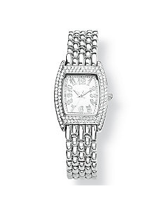Crystal Bezel Bracelet-Watch by PalmBeach Jewelry