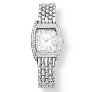Crystal Bezel Bracelet-Watch