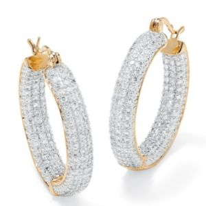 Cubic Zirconia Inside-Out Earrings