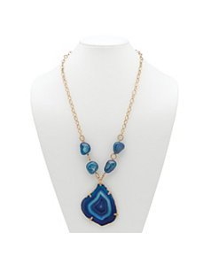 Blue Chalcedony Pendant-Necklace by PalmBeach Jewelry