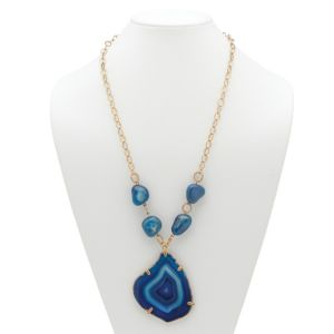Blue Chalcedony Pendant-Necklace