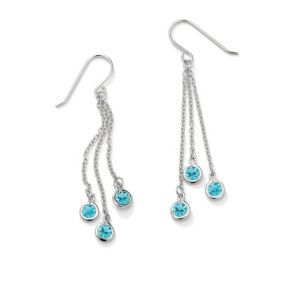Birthstone Chain Drop Earrings