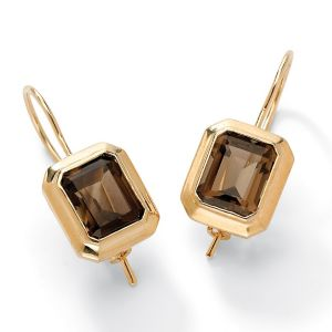 Smoky Quartz Pierced Earrings