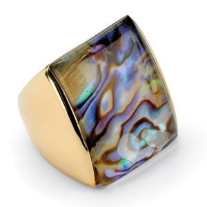 Abalone Square Ring