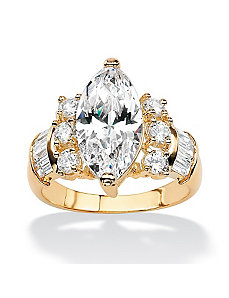 Multi-Cut Cubic Zirconia Ring by PalmBeach Jewelry