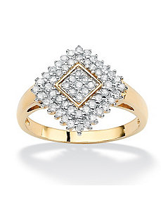 Diamond Ballerina Ring by PalmBeach Jewelry