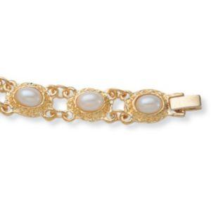 """Sim. Pearl Link Bracelet 7 1/2"""""""