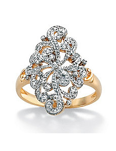 Diamond Openwork Filigree Ring by PalmBeach Jewelry