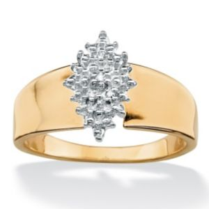 Diamond Accent Cluster Ring