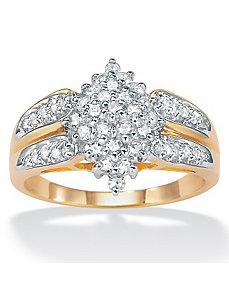 Diamond Cluster Ring by PalmBeach Jewelry