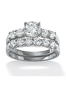Round Wedding Ring Set by PalmBeach Jewelry