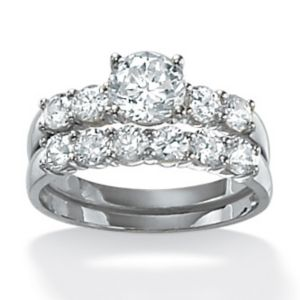 Round Wedding Ring Set