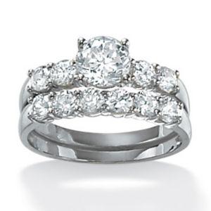 Round Wedding Ring Set