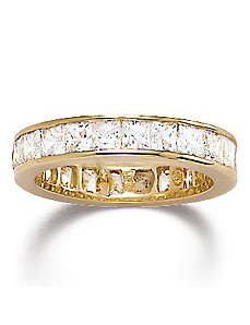 Princess-Cut Cubic Zirconia Eternity Band Ring by PalmBeach Jewelry