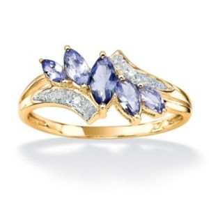 Tanzanite & Diamond Accent Ring