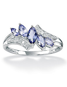 Tanzanite/Diamond Accent Ring by PalmBeach Jewelry