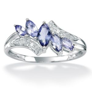 Tanzanite/Diamond Accent Ring