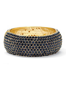 Navy Blue Crystal Bangle Bracelet by PalmBeach Jewelry