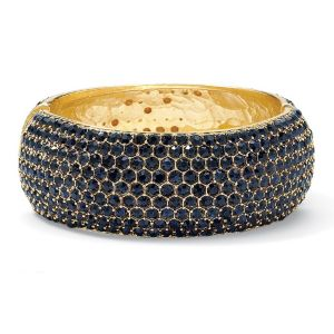 Navy Blue Crystal Bangle Bracelet