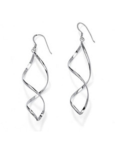 Figure-Eight Drop Pierced Earrings by PalmBeach Jewelry
