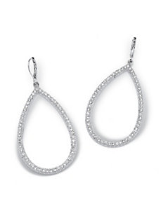 Crystal Pear-Shaped Drop Earrings by PalmBeach Jewelry