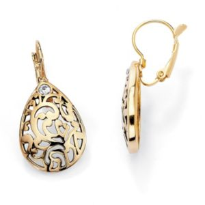 Filigree Pear-Shaped Earrings