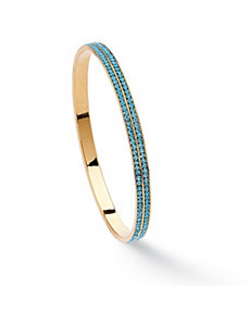 Double-Row Birthstone Bracelet by PalmBeach Jewelry