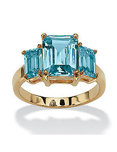Triple Birthstone Ring by PalmBeach Jewelry