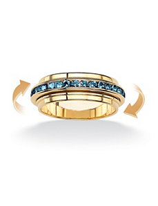 Birthstone Eternity Spinner Band by PalmBeach Jewelry