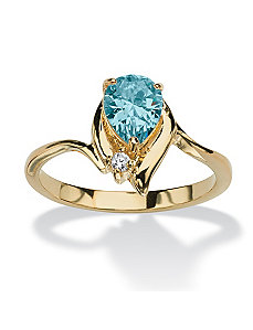 Pear-Shaped Birthstone Ring by PalmBeach Jewelry