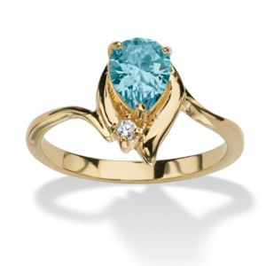 Pear-Shaped Birthstone Ring