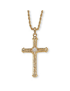 Crystal Cross Pendant by PalmBeach Jewelry
