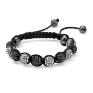 Black & White Crystal Ball Bracelet
