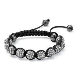 White Crystal Ball Bracelet