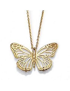 Butterfly Cutout Pendant and Chain by PalmBeach Jewelry