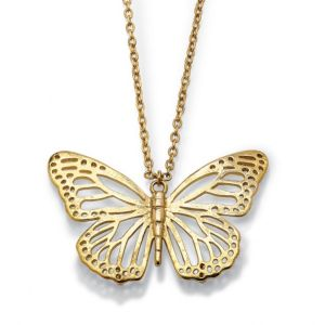 Butterfly Cutout Pendant and Chain