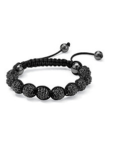 Black Crystal Ball Bracelet by PalmBeach Jewelry