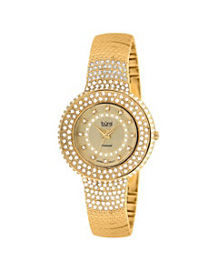 Burgi Multi-Crystal Bracelet-Watch by PalmBeach Jewelry